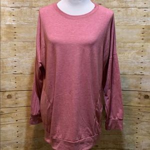 Rose color boutique top with pockets